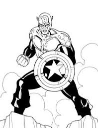 marvel heroes captain america coloring coloring pages