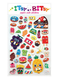 itsy bitsy stickers googly eyed food ooly