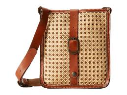 patricia nash wicker venezia crossbody in brown lyst