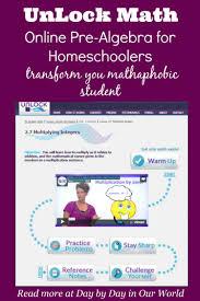 introducing unlock math a new homeschool pre algebra online math
