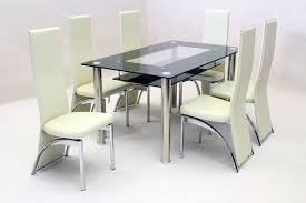 Dining Room Table With 6 Chairs Chair Black Leather Dining Chairs With Oak Legs Room Table New