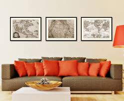 us pacific northwest vintage sepia map home decor wall art bedroom