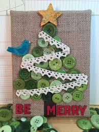 button and burlap christmas tree canvas by beth watson tombow