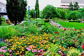 flowers garden city from the flower gardens at salt lake city ut temple square
