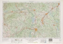 Map Nc Charlotte Topographic Maps Nc Sc Usgs Topo Quad 35080a1 At 1