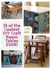 Diy Craft Desk 15 Of The Coolest Diy Craft Room Tables Window