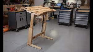 Drafting Table Desk How To Build A Standing Desk Drafting Table Youtube