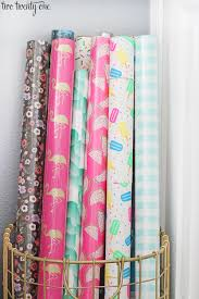 how to store wrapping paper home office update