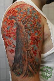 colorful tree by ambrose tattoomagz