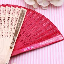 wedding fans favors doily personalized sandalwood fans palm and bamboo fans