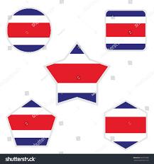 Costarica Flag Costarica Flag Stock Vector 620275058 Shutterstock