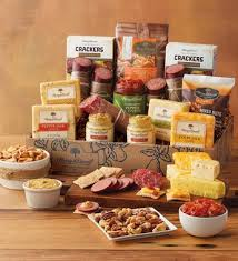 meat and cheese gift baskets deluxe gourmet sausage and cheese gift