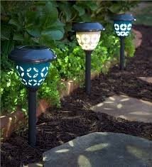ceramic solar path lights set of 2 solar lighting
