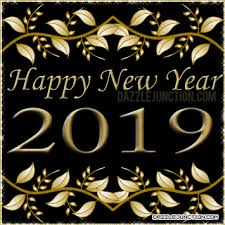 Dazzle Junction Happy New Year Gold Happy New Year Comment Graphic