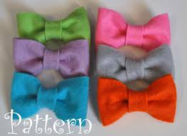 felt bow tie pattern tutorial with printable templates 3 bow