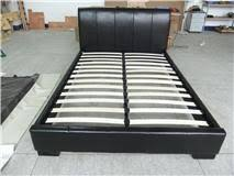 contemporary small double faux leather bed frame 24hr