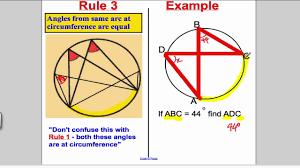 circle theorems gcse maths higher youtube
