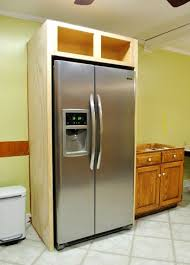 cabinet enclosure for refrigerator how to build in your fridge with a cabinet on top counter depth