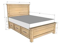 Platform Queen Or King Bed Woodworking Plans Patterns by Ana White Farmhouse Storage Bed With Storage Drawers Diy Projects