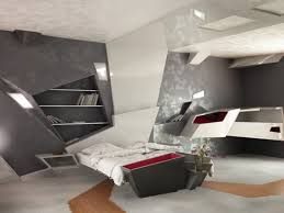 bedroom awesome grey white wood cool design futuristic bedroom