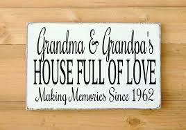 Grandparent Plaques Grandparents Gift Personalized Grandma Grandpa Wood Sign Pop Nana