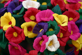 free full color flowers mexican handmade full color stock photo