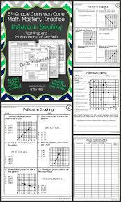 coordinate graphing patterns worksheets student data math test