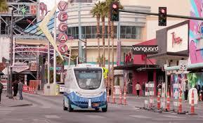 Las Vegas Traffic Map Las Vegas Launches The First Electric Autonomous Shuttle On U S