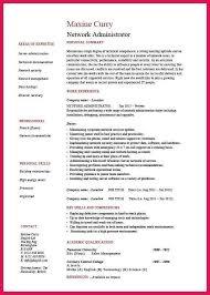 sample intern resume data administrator resume