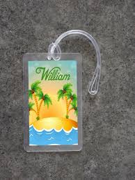 themed luggage tags tropical theme luggage tag design 5 4 99 the sewing network