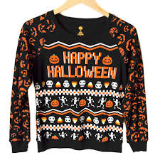 Halloween Skeletons by Happy Halloween Skeletons And Candy Corn Lightweight Ugly