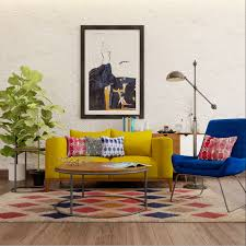 happy colors in an indo western living room living rooms
