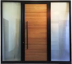 Exterior Aluminum Doors Modern Aluminum Door With Wood Slots Custom Entry Doors