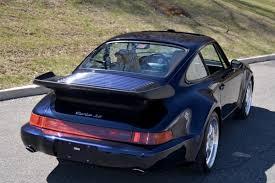 porsche 930 turbo blue collectorscarworld com 1994 porsche 911 964 3 6 turbo coupe