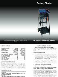 ferret 40 manual starter alternator battery load tester