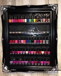 nail polish wall rack classic salon damask beauty u0026 make up