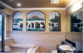 magnificent bathroom mural for home design ideas with bathroom