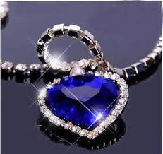 heart necklace from titanic images Titanic heart of the ocean blue heart pendant necklace jpg
