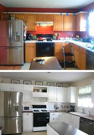 kitchen makeover on a budget ideas budget friendly before and after kitchen makeovers diy with small