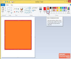 how to set foreground background colors in ms paint windows 8