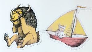 die cuts where the wild things are cut outs scrapbooking paper