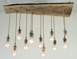 Wood Chandeliers Salvaged Live Edge Wood Chandelier By Chandy Inhabitat