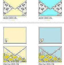 Decorated Envelopes Print And Fold These Envelope Templates With Artwork