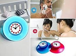 badezimmer uhr de wasserfeste badezimmer uhr mit saugnapf farben sortiert
