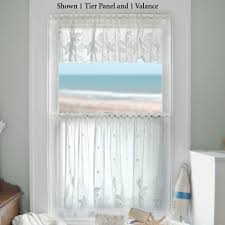seascape lace tier window treatment