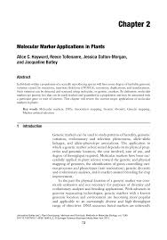 Woodwork Joints Hayward Pdf by Molecular Marker Applications In Plants Pdf Download Available