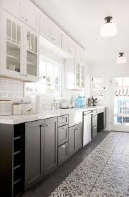 black lower kitchen cabinets white white and black kitchen features glass cabinets and
