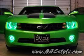 synergy green camaro ss for sale green halo headlights and fog lights