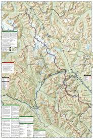 Map Of Glacier National Park Banff North Banff And Yoho National Parks National Geographic