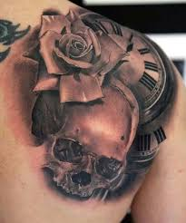 26 best black skulls and roses tattoos images on pinterest black